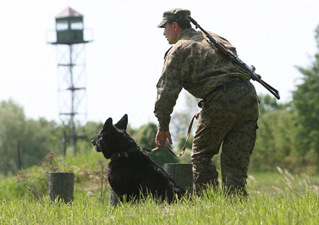 La guardia di frontiera russa (foto d'archivio)