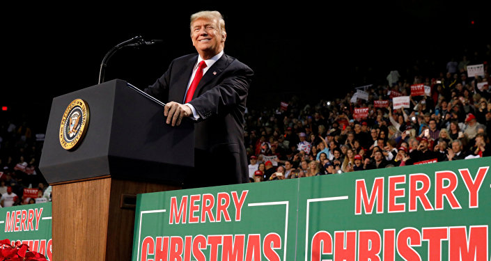 U.S. President Donald Trump holds a rally in Pensacola, Florida, U.S. December 8, 2017
