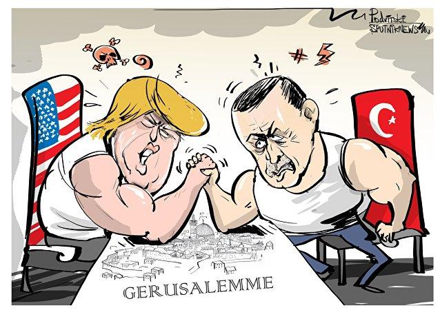 Il presidente turco Tayyip Erdogan ha proposto di proclamare Gerusalemme capitale della Palestina.