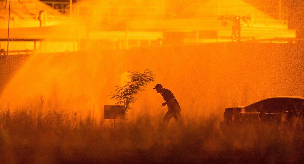 Incendio deposito petrolifero regione Kiev