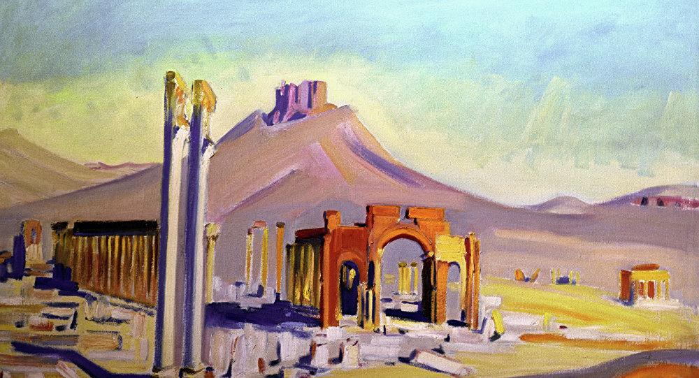 Una riproduzione del quadro Palmira di Akseli Gallen-Kallela