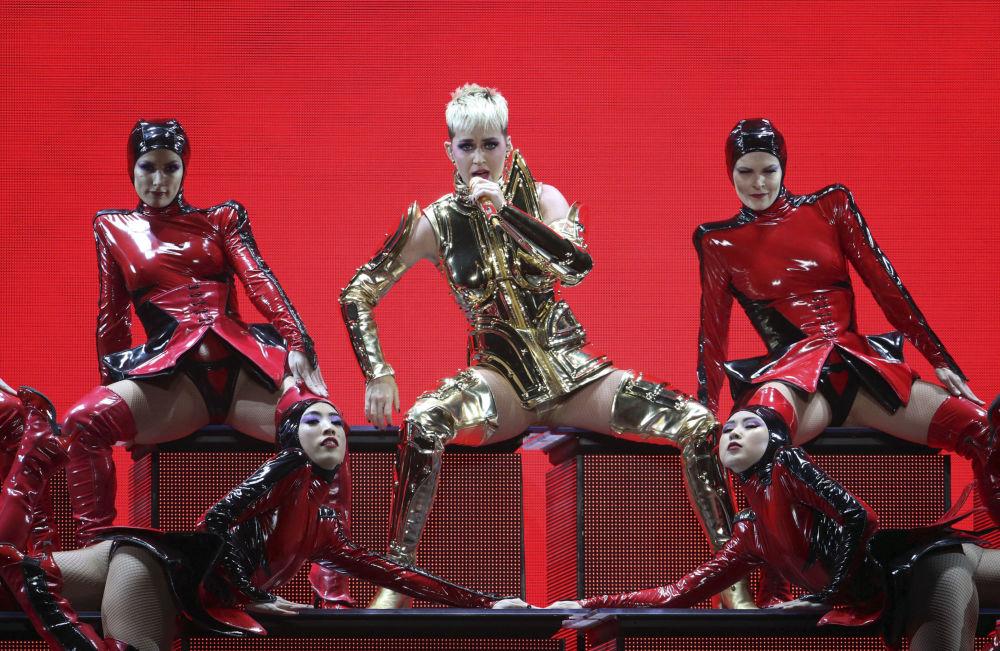 La cantante americana Katy Perry ad Atlanta, USA.