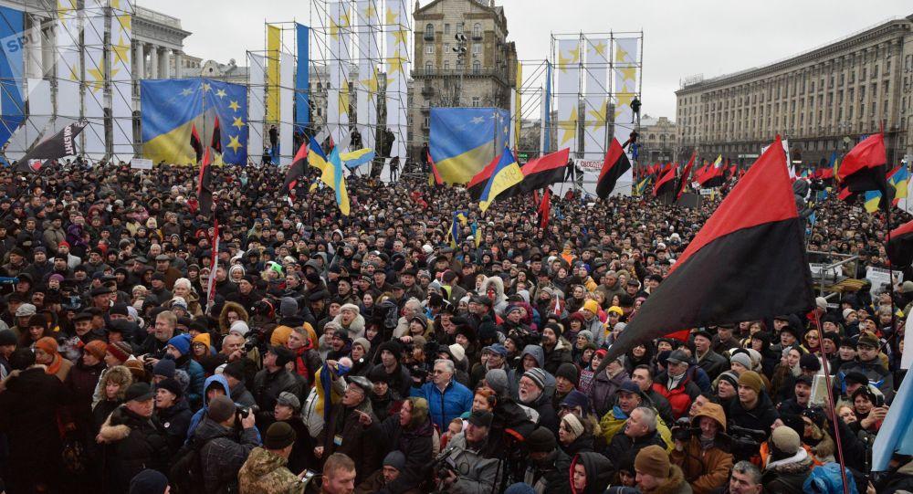 Sostenitori di Saakashvili