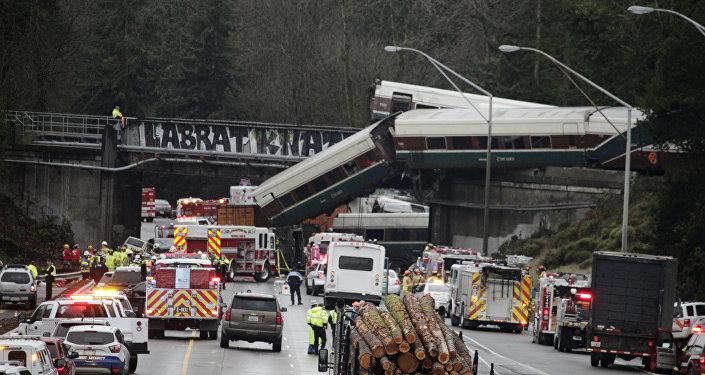 Treno deragliato vicino Seattle