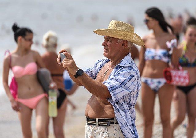 Un pensionato sulla spiaggia di Koktebel, in Crimea