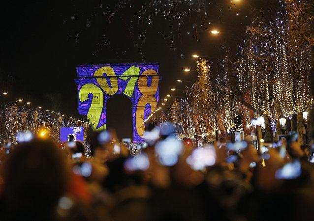 Celebrazioni del Capodanno 2018 a Parigi