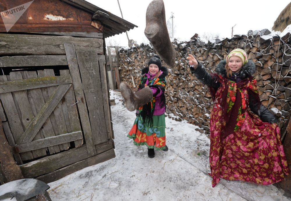 Giochi tradizionali in un villaggio di kazaki di Kidysh.