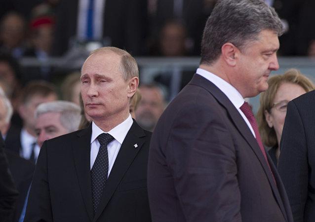 Petro Poroshenko e Vladimir Putin
