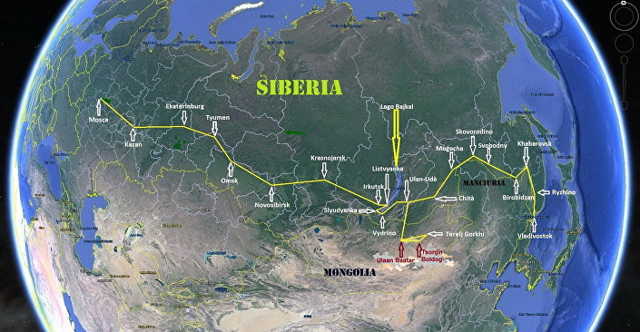 L'itinerario del viaggio di Vittorio Russo