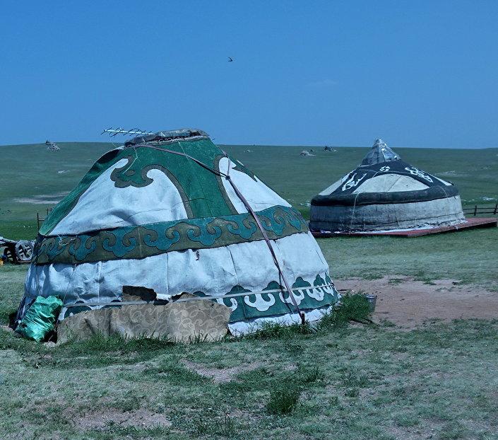 Una gher di nomadi