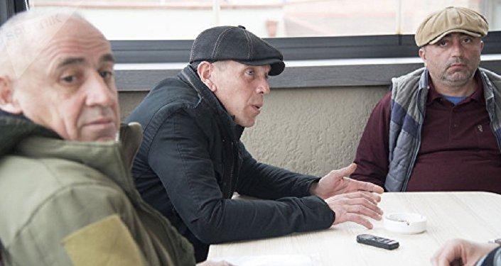 Generale Tristan Tsitelashvili, Alexander Revazishvili and Koba Nergadze