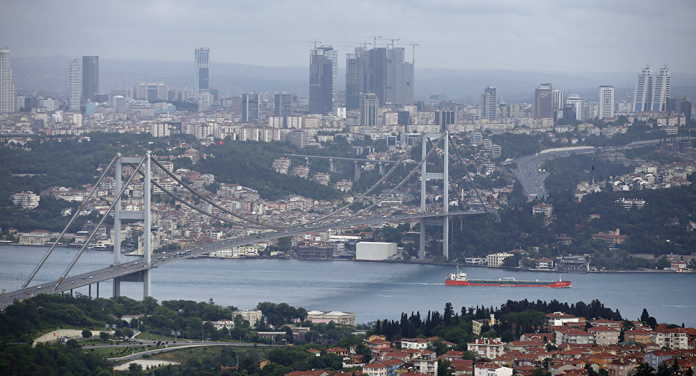 View of Istanbul with the Bosporus and the Bosporus Bridge in Turkey. (File)