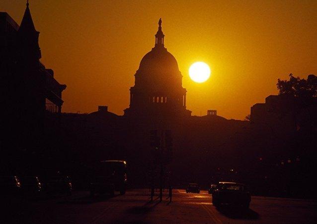 Campidoglio di Washington al tramonto