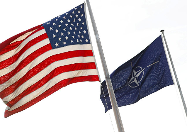 Bandiere di USA e NATO