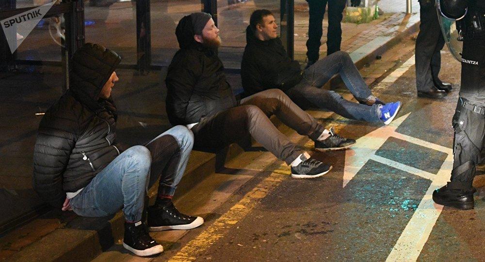 Gli scontri di Bilbao