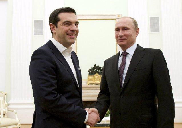 Alexis Tsipras e Vladimir Putin