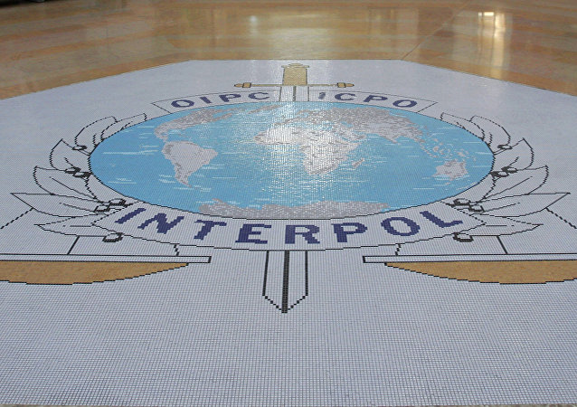 This Oct.16, 2007 file photo shows the entrance hall of Interpol's headquarters in Lyon, central France