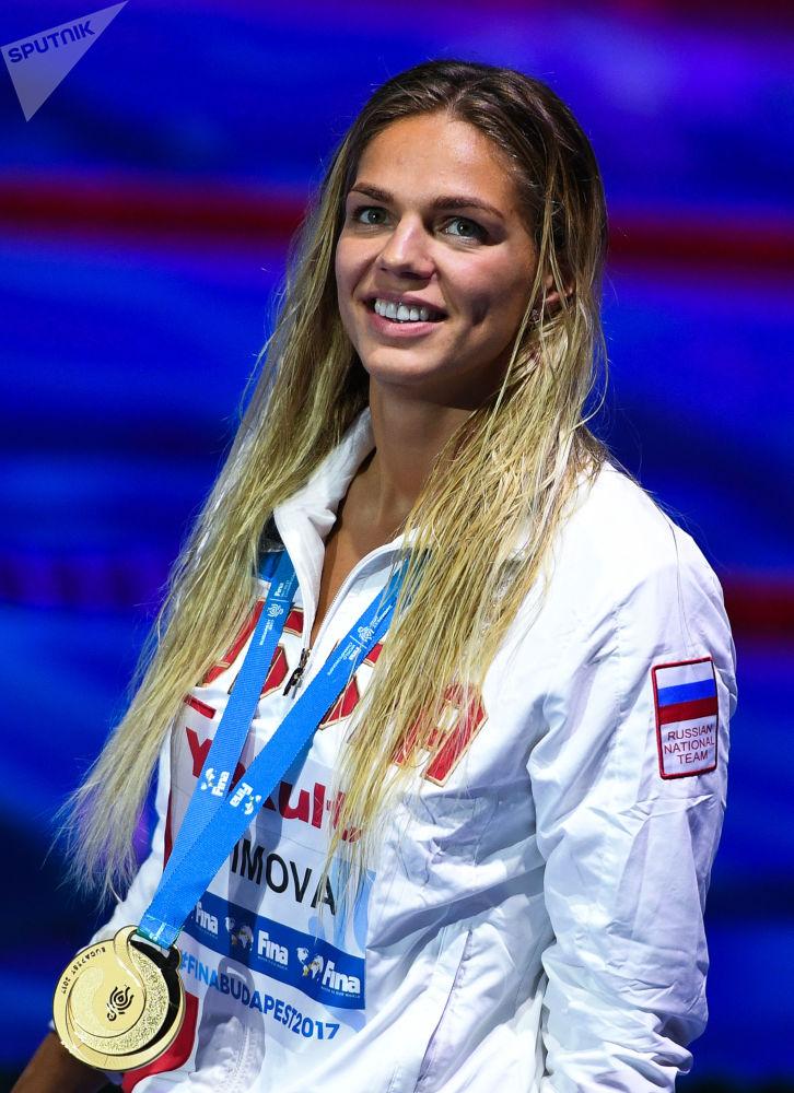La nuotatrice russa Yulia Efimova.