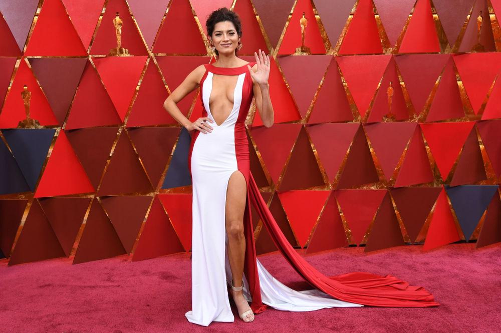 L'attrice Blanca Blanco alla 90esima edizione del premio Oscar.