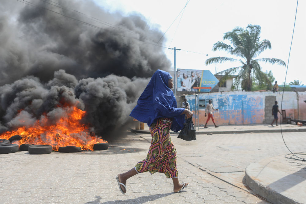 La situazione a Cotonou, Benin.