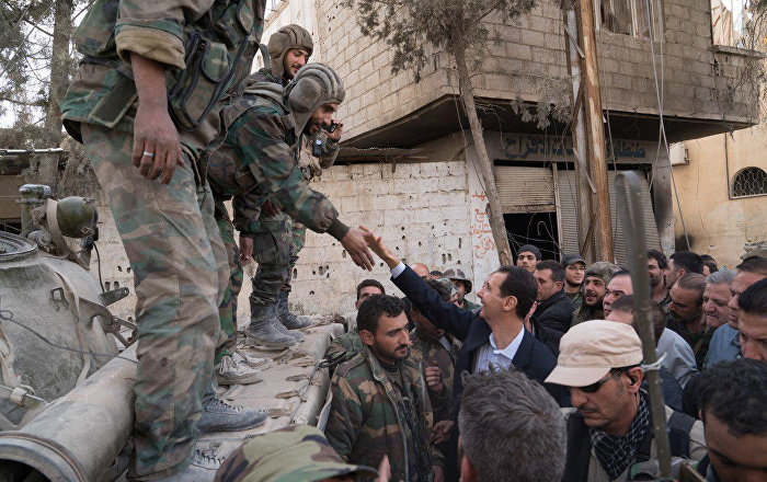 Assad ha fatto una girata per al-Nashabia liberata dai terroristi
