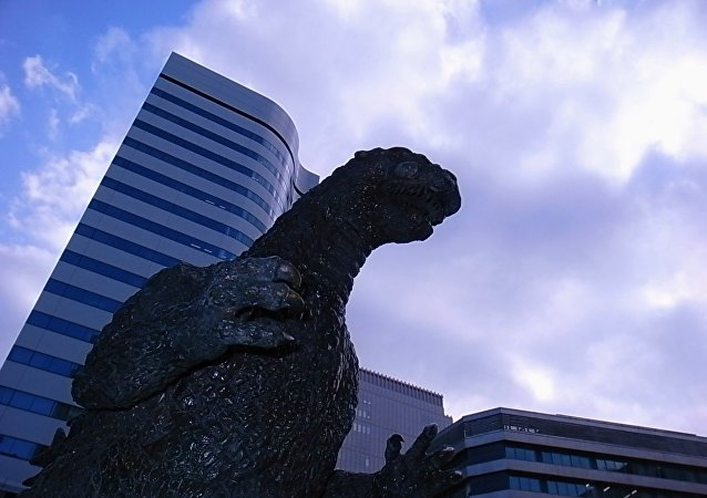 Godzilla looks down on us all from above