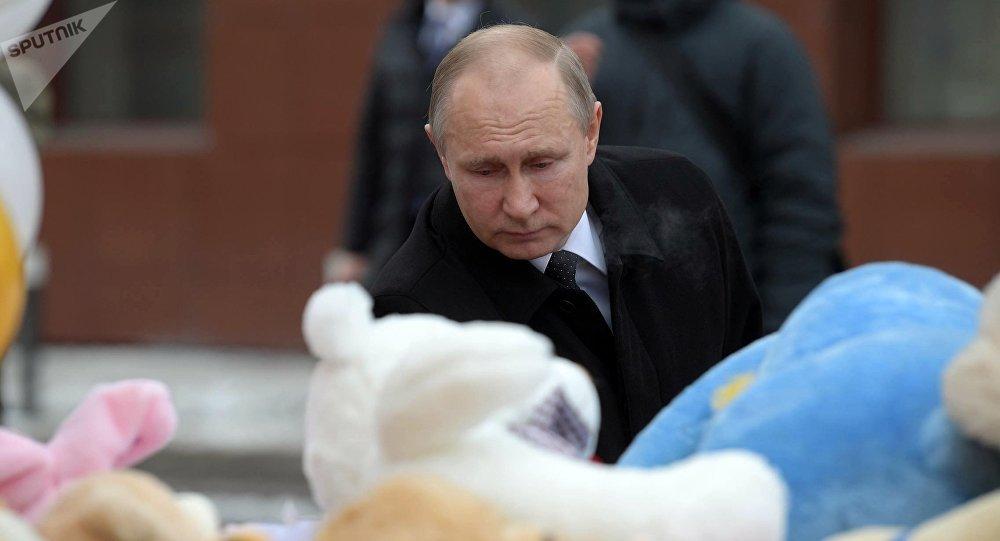 Vladimir Putin a Kemerovo