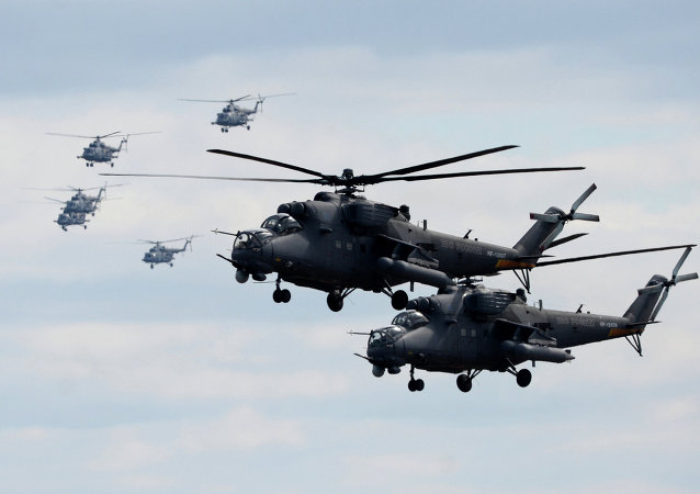 Mi-35 helicopters