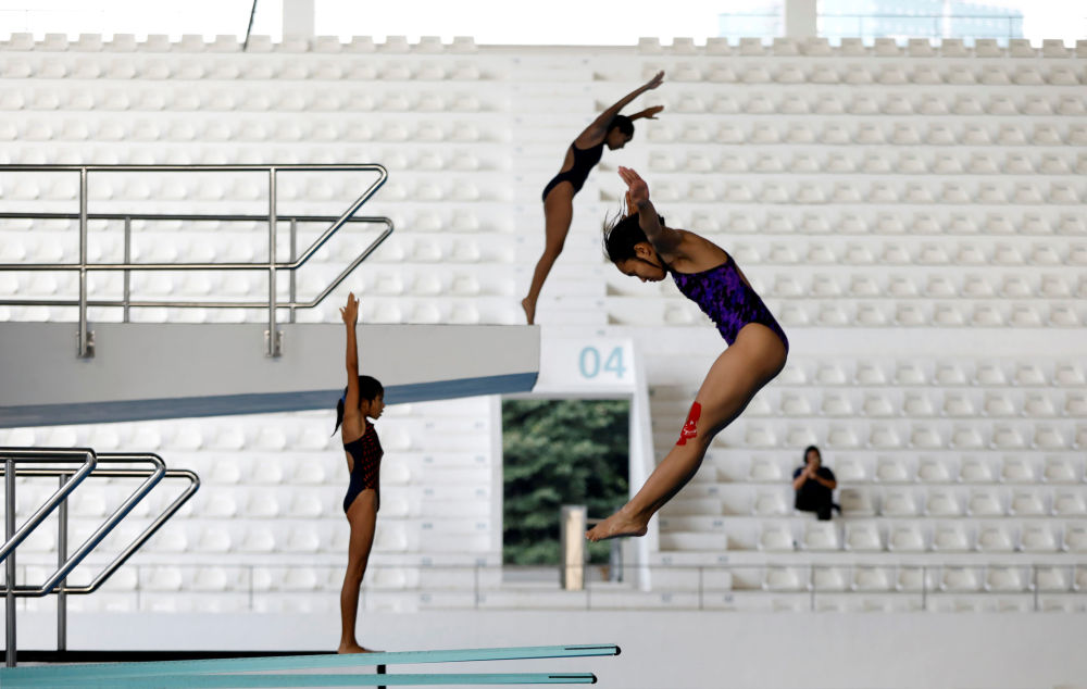 I tuffatori si preparano ai prossimi Giochi Asiatici 2018 a Giacarta, Indonesia.