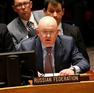 Rappresentante permanente della Russia all'ONU Vasily Nebenzya
