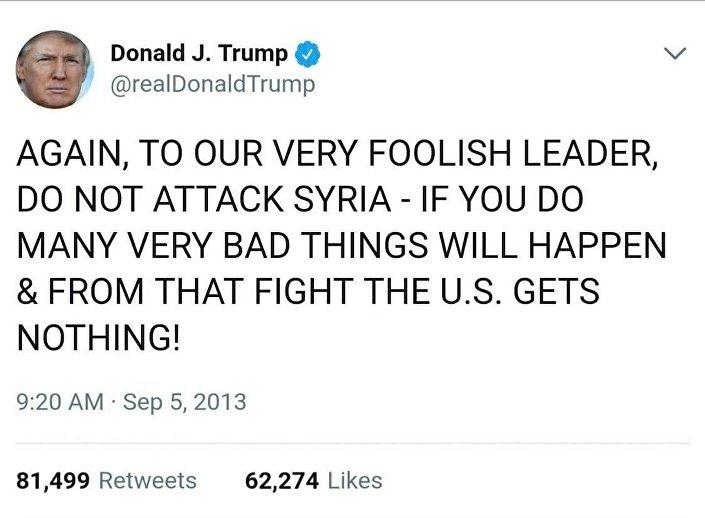 Un twit di Trump sulla Siria (2)