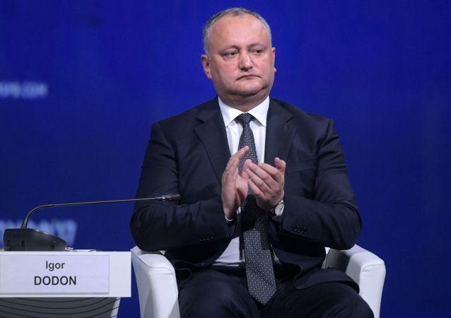 Il presidente della Moldavia Igor Dodon