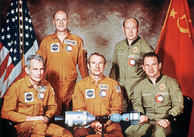 Soyuz-Apollo Soviet-U.S. space crew