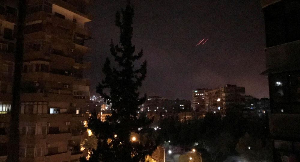 Ночные удары США, Франции и Великобритании по Дамаску, Сирия