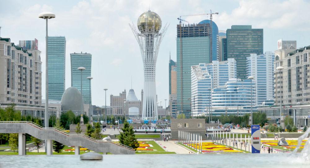 Una vista di Astana, la capitale del Kazakhstan.
