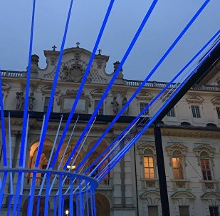 Luce in Cattedra, un'installazione luminosa progettata dal Politecnico nell'ambito dell'iniziativa studentesca