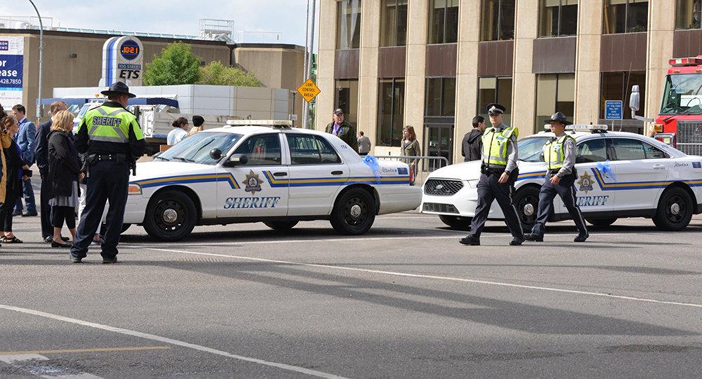 La polizia, Edmonton, Canada