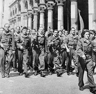Un gruppo militare della Resistenza a Milano durante la Seconda guerra mondiale