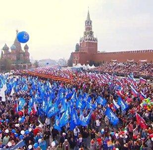 La giornata dei lavoratori a Mosca