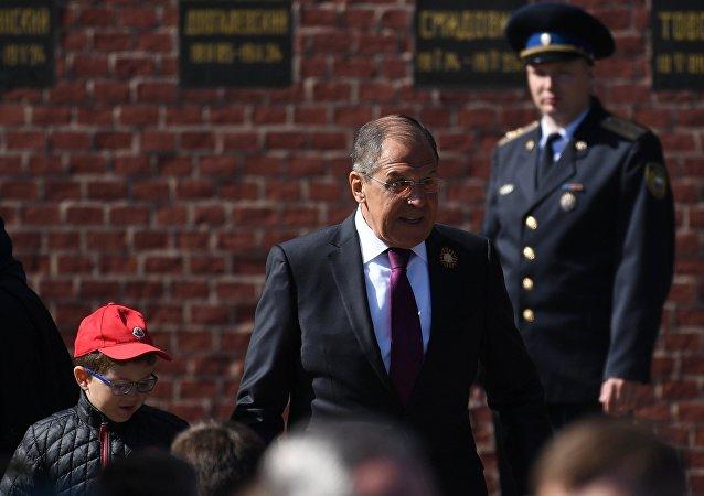 Sergey Lavrov alla Parata del Giorno della Vittoria 2018