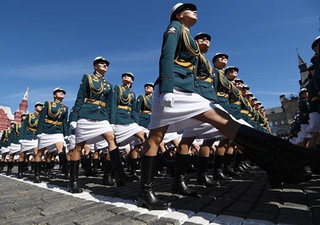 Le donne soldato delle Forze Armate russe.