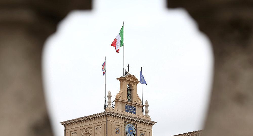 Bandiere sul Quirinale
