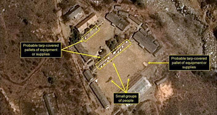 Immagine satellitare del sito nucleare nordcoreano di Punggye-ri