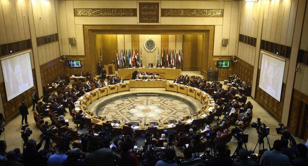 (Foto d'archivio) An emergency meeting is held by foreign ministers of the Arab League in Cairo, Egypt, Jan. 15, 2015