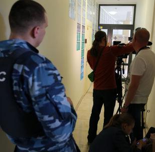 Alla sede dell'agenzia RIA Novosti Ucraina a Kiev