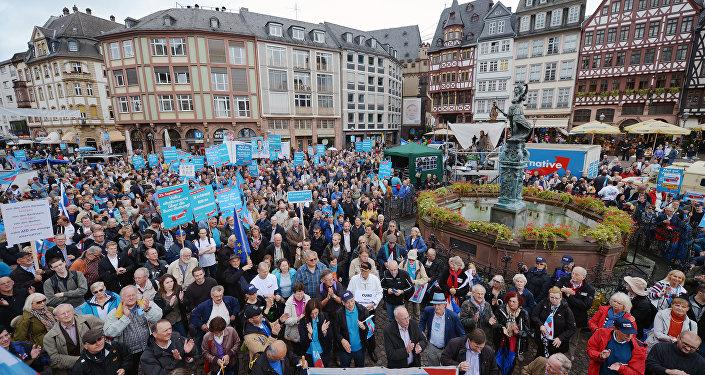 I sostenitori del partito anti-euro tedesco Alternativa per la Germania (foto d'archivio)