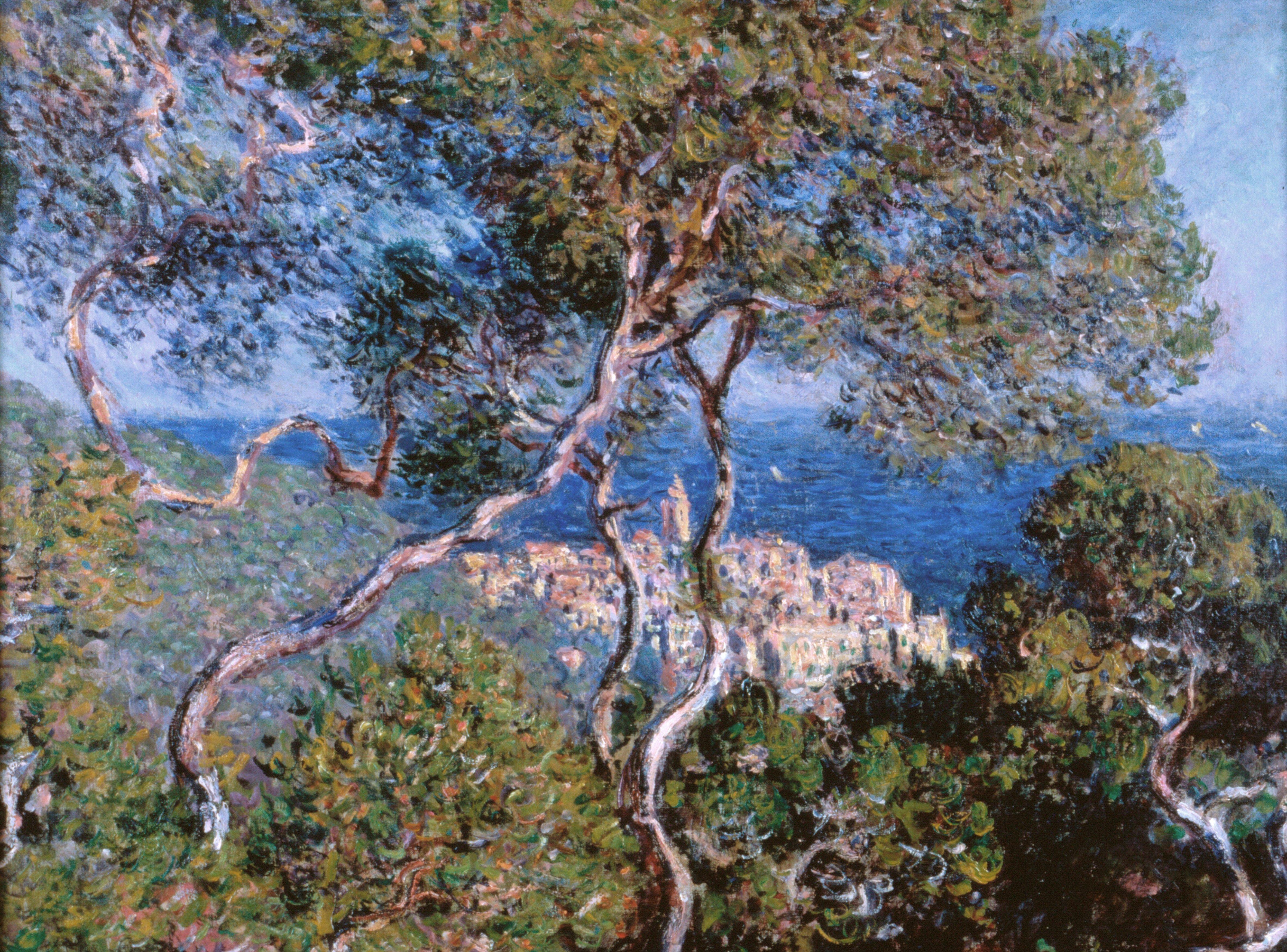Un paesaggio dipinto da Claude Monet a Bordighera