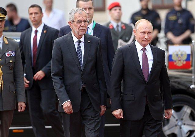 Vladimir Putin e Alexander Van der Bellen