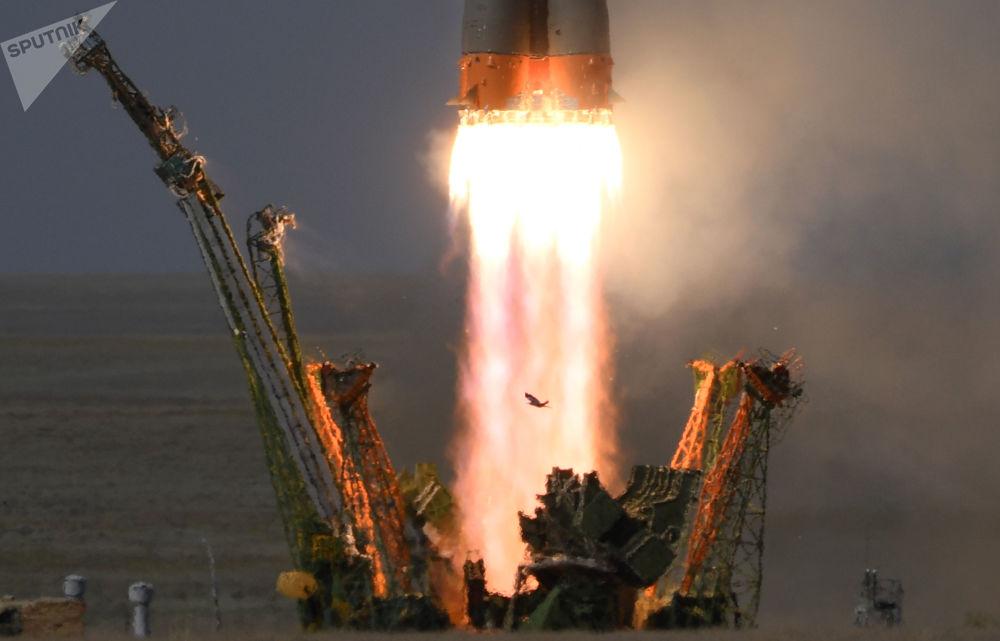 La spedizione 56/57 alla Stazione spaziale internazionale lanciata nello spazio con la Soyuz MS-09.