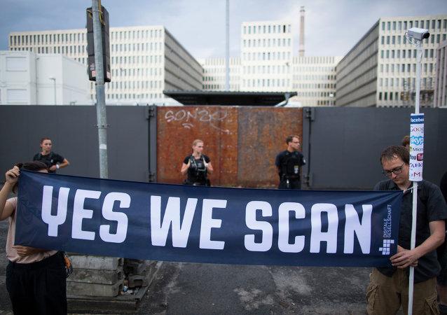 Manifestazione contro lo sponaggio della NSA in Germania